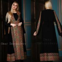 Abaya thobe Embroidered Palestinian Jordanian Traditional Arabic Dress