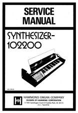 Hammond 102200 MHz Service Manual Schematic Diagrams schaltplan schema