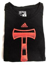 Adidas Portland Timber Soccer Black T Shirt Red Graphic Mens Size XL