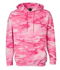 Heavy Cotton Pullover Pink Camo Camouflage Hoodie Pocket Sweatshirt