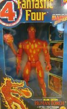 "1994 Marvel Fantastic Four Deluxe Edition Human Torch 10"" Toy Biz / Box 253"