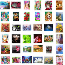 5D DIY Diamond Painting Flower Animals Embroidery Cross Crafts Stitch Art Decor