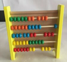 Abacus For Kids Math: Classic Wooden Educational Toy with Free Magnetic A... NEW