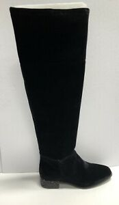 Ann Klein Womens Kimmie Over The Knee Boot Black Size 8 M