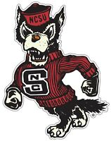 "NC State Wolfpack Tuffy Color Vinyl Decal Sticker - You Choose Size 2""-34"""