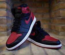 "Nike Air Jordan 1 Retro Alta OG ""Bred prohibida"" UK10.5"