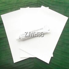 3x White PVC Patch + Glue for Inflatable Boat Kayak Canoe Raft Bouncer Airbed