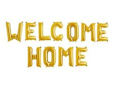 "WELCOME HOME - 16"" Gold Letter Foil Balloons - Retirement Party - US SHIP"