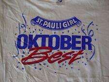 VINTAGE St. Pauli Girl Octoberfest Beer NEW 80's T shirt Men's Sz L