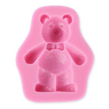 3D Teddy Bear Silicone Fondant Mold Cake Soap Chocolate Baking Mould DIY Tool