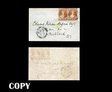 New Zealand 1856, Castle Cover  1-penny Orange Vermilion $65000,Replica