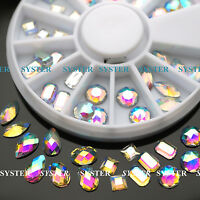 36 PCS 3D Nail Art Glitter AB Rhinestones Wheel Nail Decoration Design #SB-081
