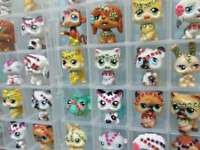 Littlest Pet Shop Lot of 4 Magic Motion Random Pets Cat Dog Authentic Hasbro Lps
