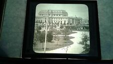 VINTAGE COLLECTIBLE GLASS PICTURE Negative GOVERMENT BUILDING PLAZA  ARGENTINA