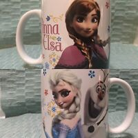 Disney Frozen Coffee Mug, Elsa Anna Olaf, 2014