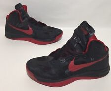 Nike Hyperfuse Team Basketball High Top Shoe Mens Black/red Size 13.5