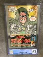1982 Marvel No-Prize Book 1 Dr Doom STAN LEE Michael Golden COVER Graded CGC 7.5