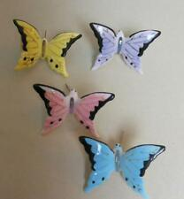 Vintage Set of 4 Porcelain Butterflies Hand Painted Japan