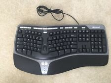 CLEAN Microsoft Black Natural Ergonomic Keyboard 4000 v1.0 USB Corded