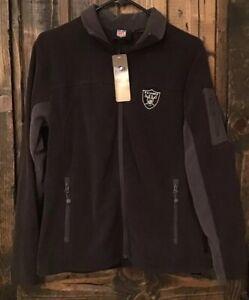 Raiders Full Zip Embroidered Fleece Jacket Women's, Size Medium.