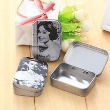 Beautiful Audrey Hepburn Iron Pick Earring Jewelry Small Boxes Nostalgia Case