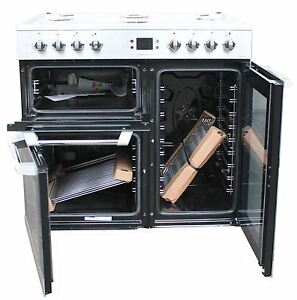 Leisure 90 cm Dual Fuel Range Cooker CS90F530X 3 Ovens Stainless Steel #1773