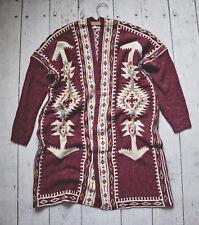 Boho Bohemian Aztec Southwest Sweater Cardigan S / M Anthropologie Top