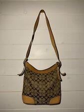 Coach Signature Convertible Hobo Bag Handbag Shoulder Bag 6346 Brown