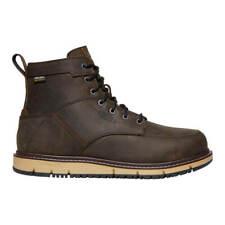 KEEN San Jose Men's CSA 6 in. Cascade Brown/Black Waterproof Leather Work Boot