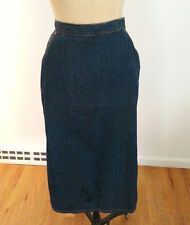 "DIESEL 34"" Long  Denim Maxi  Skirt  Large  side pockets Made in Italy Excellent!"