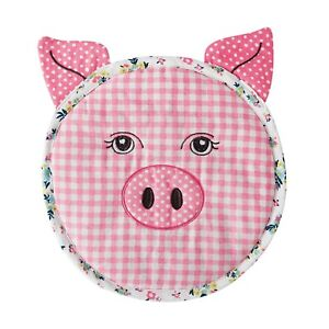 The Pioneer Woman Large 10 Inch Diameter Quilted Trivet, Pig, NWT