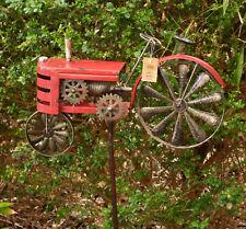 Traktor rot  Gartenstecker Windrad Neu Dekoration Windspiel