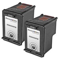 2 C9364WN Black Printer Reman Ink Cartridge for HP 98 HP98 PhotoSmart C4180