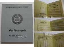 DDR 1984 NVA / Grenztruppen Armee Ausweis , East german army ID book / document