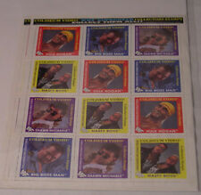 WWF Stamps 2 sheets lot Hulk Hogan  Shawn Michaels  Nasty Boys  Big Boss Man