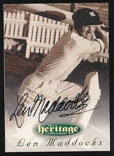 1996 Futera Len Maddocks Signature Heritage Collection Cricket Card no.18