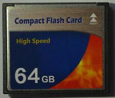Speicherkarte 64 GB Compact Flash High Speed Karte CF für Digital Kamera