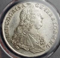 1761, Emperor Francis I Stephen. Large Silver Thaler Coin. Prague! PCGS MS-62!