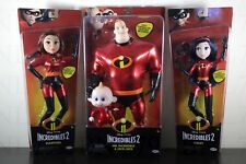 SET of 3 INCREDIBLES 2 Disney Pixar MR INCREDIBLE ELASTIGIRL VIOLET JACK Figure
