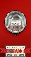(HL1) CAFE RACER MOTORCYCLE SIDE MOUNT CHROME/BLACK HEADLIGHT LAMP 5″1/4″ LENSE