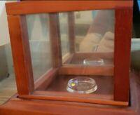 Wooden Baseball Display Cube Case