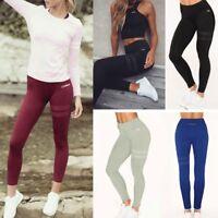 Women Fitness Stripe Print Yoga Pants Elastic Cool Dry Tights Sports Leggings