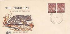 Australia 1960 Australian Animals Tiger Cat FDC (AU256x2U1FDC)