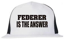 Federer is the Answer Unisex Trucker Hat Cap Adjustable