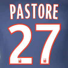 PASTORE #27 PSG NOME NUMERO HOME KIT NAME SET PRINTING 15-16