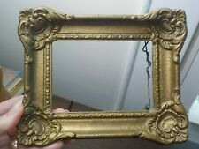 Antique French Miniature Compo & Wood Gold Painted Frame 4 x 5.5 in fit 1910-20s