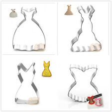 4 Pcs Packed Clothing Dress Stainless Steel Cookie Dessert Cake Cutter DIY Mold