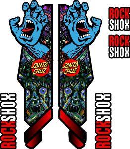 ROCK SHOX FORK Stickers Decals Mountain Bike Down Hill MTB #b045