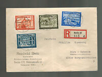 1939 Berlin Germany Registered Cover to Bern Switzerland