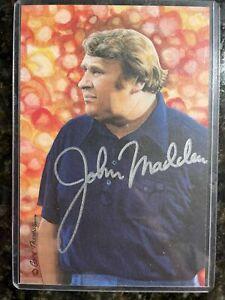John Madden Signed Oakland Raiders Auto Goal Line Art Card GLAC  Very Rare 🔥